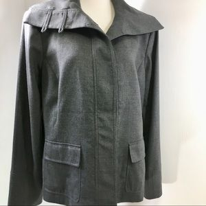 MAG by Magaschoni Buttoned Grey Jacket 12